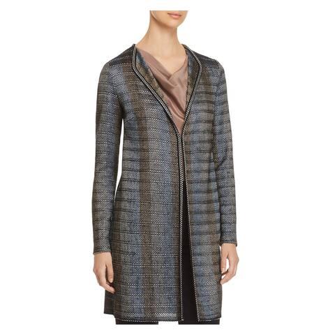 ST JOHN Womens Blue Jacket Size: 10