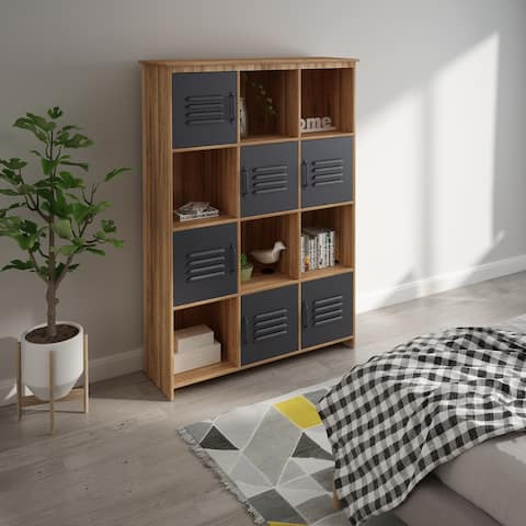 Modern Cube Bookcase with Shelf for Living Room