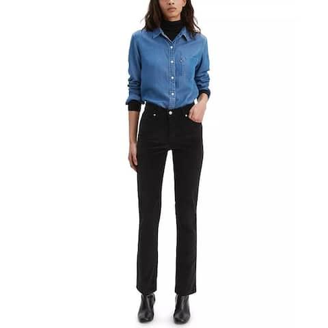 Levi's Women's Classic Straight-Leg Corduroy Jeans Black Size 10