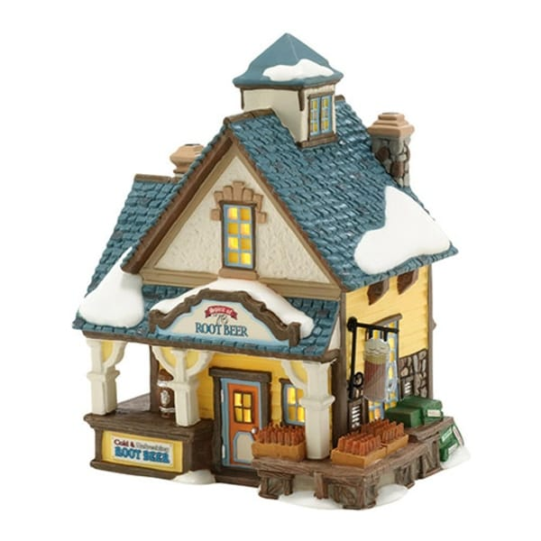 """Department 56 New England Village """"Spirit of '76 Root Beer"""" Lighted Building #4036530"""