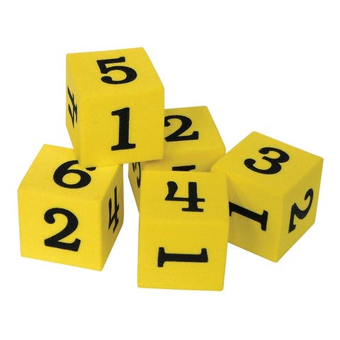 Foam Numbered Dice Numerals 1-6