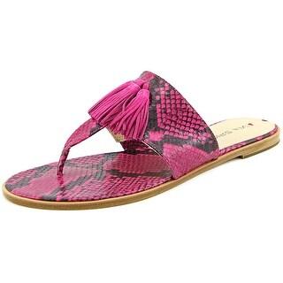 Via Spiga Terrin Open Toe Leather Thong Sandal