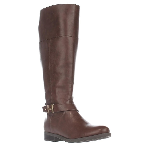Tommy Hilfiger Shahar Wide Calf Knee High Boots, Medium Natural