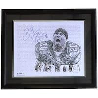 Brian Dawkins Signed Framed 16x20 Philadelphia Eagles Word Art Photo HOF 18  JSA f10fcb876