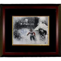 Brian Dawkins signed Philadelphia Eagles 16x20 Spotlight Photo Custom Framed 20 horizontalwhite jer