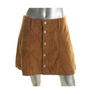 Denim & Supply Ralph Lauren Womens A-Line Skirt Goat Suede Mini