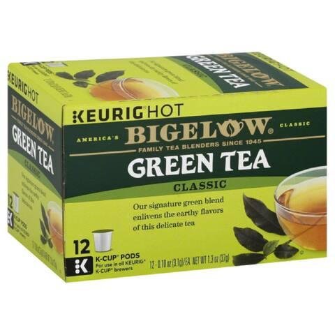 Bigelow Classic Green Tea K-Cup Pods, 12 Ea (Pack of 6)