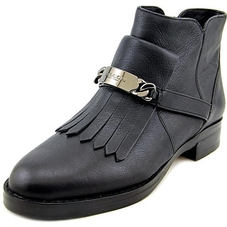 Coach Eagle Women  Round Toe Leather Black Boot
