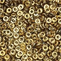 Czech Glass Flattened O Beads, 3.8x1mm, 8 Gram Tube, Rosaline Amber