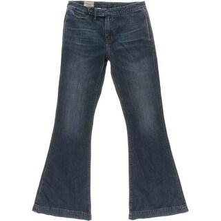 Polo Ralph Lauren Womens Flare Jeans Denim Whisker Wash