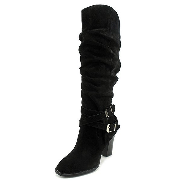 INC International Concepts Womens JORDANA Suede Round Toe Mid-Calf Fashion Bo...