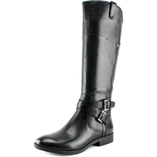 Marc Fisher Audrey Women Round Toe Leather Black Knee High Boot