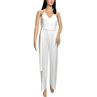 Link to bebe Womens White VNeck Jumpsuit Similar Items in Outfits