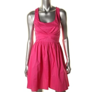 Ruby Rox Womens Juniors Poplin Sleeveless Tank Dress - 1