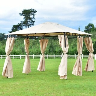 Costway Outdoor 10'x13' Gazebo Canopy Shelter Patio Party Tent