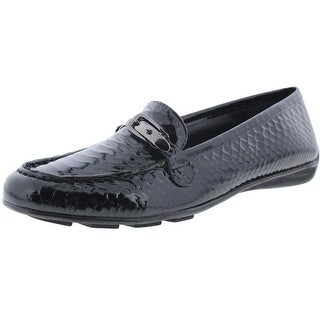 Walking Cradles Womens Mica Patent Leather Embossed Loafers