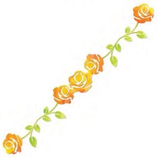"Sizzix Sizzlits Decorative Strip Die 12.625""X2.375""-Rose Vine"