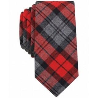 Bar III NEW Red Charcoal Gray Men's Bernard Plaid Print Slim Neck Tie|https://ak1.ostkcdn.com/images/products/is/images/direct/90f6d1b94e9df32761dbc85e0760adffad85d3ca/Bar-III-NEW-Red-Charcoal-Gray-Men%27s-Bernard-Plaid-Print-Slim-Neck-Tie.jpg?_ostk_perf_=percv&impolicy=medium