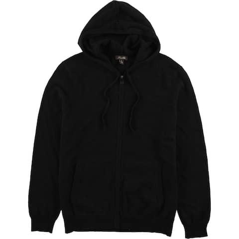 Tasso Elba Mens Cashmere Hoodie Sweatshirt, Black, X-Large