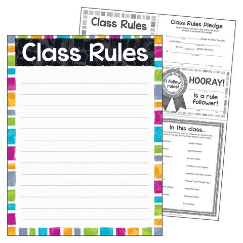 """Class Rules Color Harmony Learning Chart, 17"""" x 22"""""""