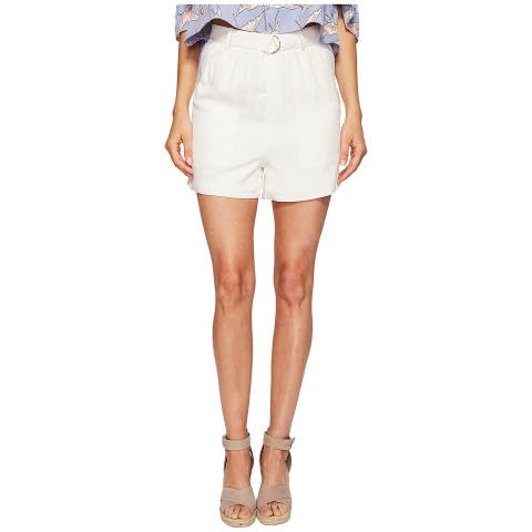 Bishop + Young Womens Silk Belted Paperbag Shorts