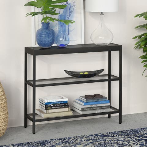 Alexis 3-Shelf Short Console Table