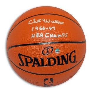 """Chet Walker Autographed IndoorOutdoor NBA Basketball Inscribed """"196667 NBA Champs"""""""