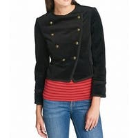 Tommy Hilfiger Womens Velvet Double Breasted Jacket