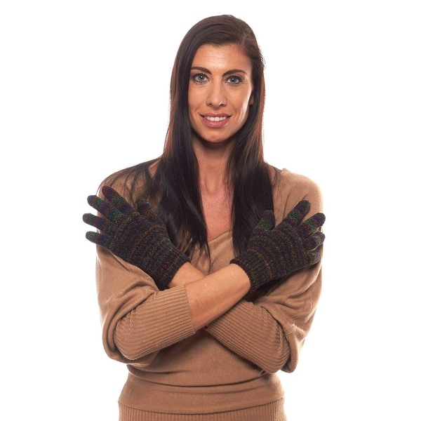 Space Dyed Stretch Chenille Gloves with Ribbed Cuff