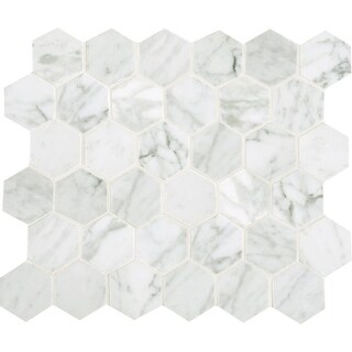"""Daltile M2HEXMSL Marble Collection - 2"""" x 2"""" Hexagon Mosaic Multi-Surface Tile - - N/A"""