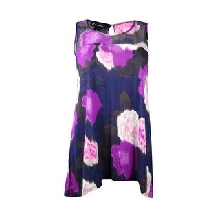INC International Concepts Women's Printed Illusion Top (M, Jazz Age Floral) - jazz age floral