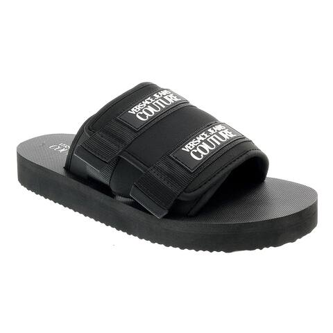 Versace Jeans Couture Black Contemporary Summer Sandals-