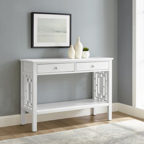 Wales Geometric Two-Drawer Console Table