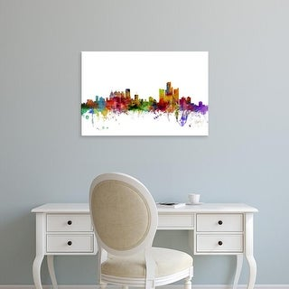 Easy Art Prints Michael Tompsett's 'Detroit Michigan Skyline' Premium Canvas Art