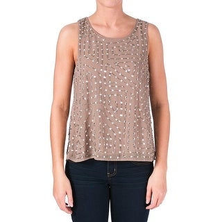 W118 by Walter Baker Womens Olivia Tank Top Chiffon Embellished