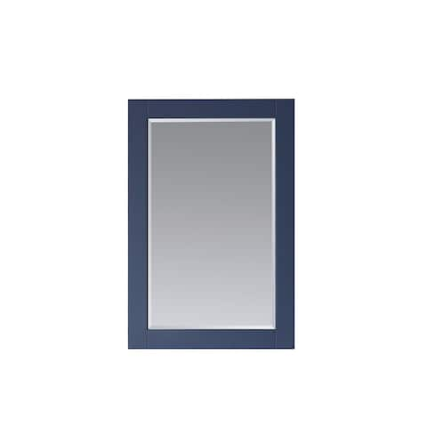 Florence 30 Inch Rectangular Bathroom Vanity Framed Wall Mirror In Blue - 30 inches