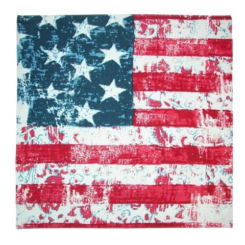 CTM® Distressed American Flag Bandana - one size