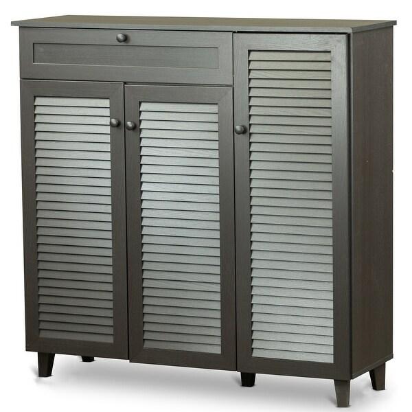 Lucerne 3 Door With Drawer Wood Entryway Shoe Storage Cabinet