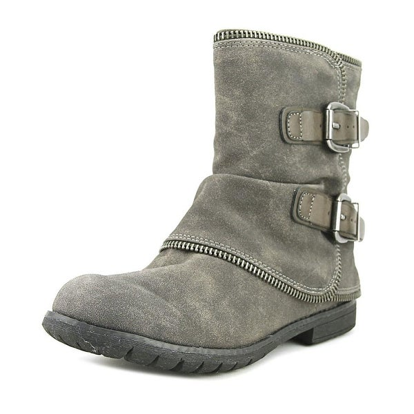 Not Rated What Happened Women Round Toe Synthetic Gray Mid Calf Boot