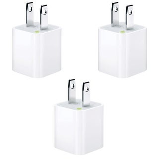 Apple Original 5W Wall Charger / Adapter Cube for all iPhones, iPods and iPads including iPhone Models 4/4s/5/5c/5s/6/6s