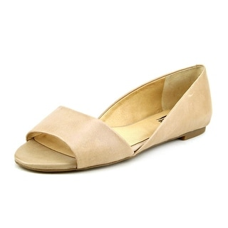 Lucky Brand Darnel Open-Toe Leather Flats