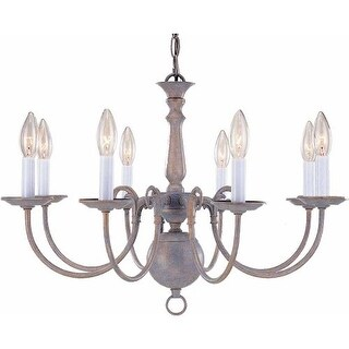 "Volume Lighting V3558 8 Light 16.75"" Height 1 Tier Chandelier"