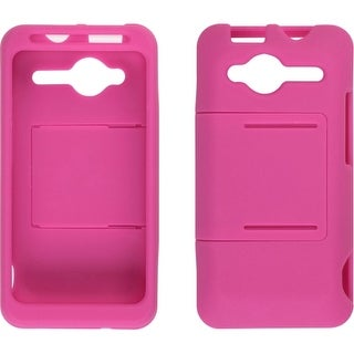 Two Piece Slide Snap Case for HTC EVO Shift 4G - Hot Pink