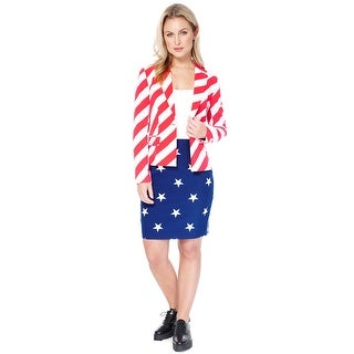 Oppo Suits American Woman Suit Adult Costume - Red/White/Blue