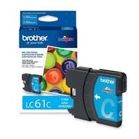 Brother LC61C Brother Cyan Ink Cartridge - Cyan - Inkjet - 325 Page - 1 Each