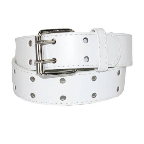CTM® Kids' Leather Two Hole Jean Belt