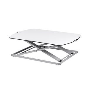 Monoprice Ultra-Slim Sit-Stand Table Desk Converter Aluminum Easy Lifting and Lowering