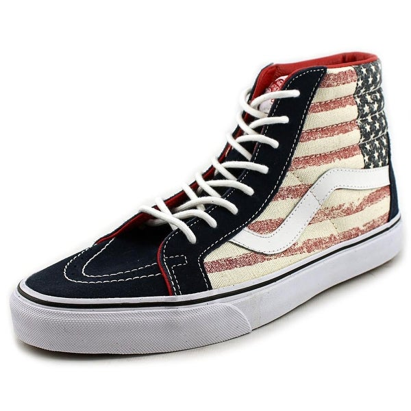 Vans Sk8-Hi Reissue Men Round Toe Canvas Multi Color Skate Shoe