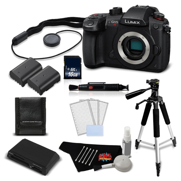 Panasonic Lumix DC-GH5S Mirrorless MFT Digital Camera Intl Version + 16GB SDHC Memory Card + Battery Combo Bundle