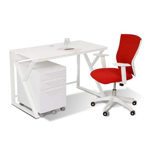 White 47-inch Modern Writing Desk